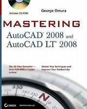 NEW - Mastering AutoCAD 2008 and AutoCAD LT 2008 by Omura, George