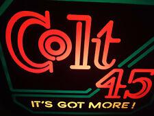 """Vintage 1980s Colt 45 Malt Liquor Bar Lighted Sign Working 18"""" x 14"""""""