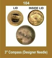 New 3 Inch Compass Designer Needle Nautical Outdoor Navigation