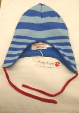 7b48ef2b3fc Fleece Lined Knitted Stripey Hat by Toby Tiger
