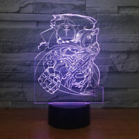 3D Fullmetal Alchemist Night Light LED Table Desk Lamp Home Art Decor Lantern