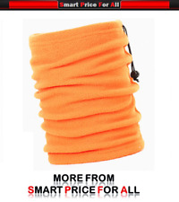 ORANGE Neckwarmer Thermal Polar Fleece Snood Scarf Hat Ski Wear Mens&Ladies