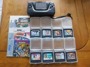 SEGA GAME GEAR & GAMES inc STREETS OF RAGE / ROBOCOD / SONIC - WORKING