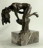 **DEAL*DEAL** Bronze Sculpture Statue Signed Abstract Modern Art Nude Girl On T