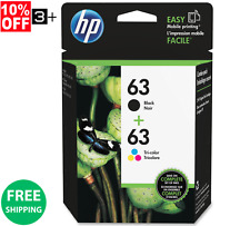 New! Genuine HP 63 Combo Pack 1-Black & 1-Color Ink Cartridges HP63 | L0R46AN