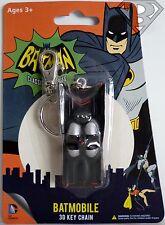 "BATMOBILE DC Batman 1966 Classic TV Series 3"" inch 3D Key Chain Figure 2014"