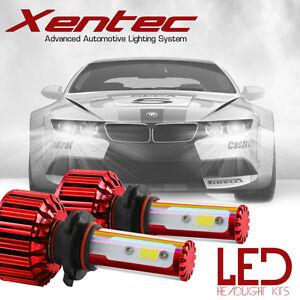 XENTEC 9005 LED High Beam Conversion Kit 60w CREE 6000K 6K White Light Bulbs