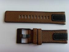 DIESEL Original Ersatzband Lederarmband DZ4305 Uhrband braun 26 mm watch strap