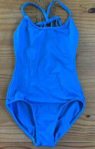 MOTIONWEAR Women's Size Small Adult SA Turquoise Strappy Tank Dance Leotard EUC