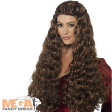 Medieval Princess Wig Fancy Dress Ladies