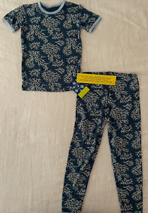 NEW Kickee Pants Pajama Set in Twilight Coral Fans, Size 5