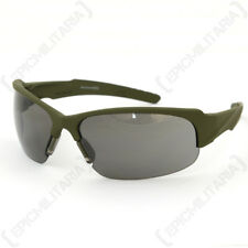 Swiss Eye 'Armoured' Glasses - Olive - Black - Safety Goggles Airsoft Army New