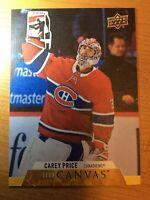 UPPERDECK 2020-2021 CAREY PRICE CANVAS HOCKEY CARD C-43 MONTREAL CANADIENS