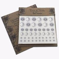 Nail art accessories decals Temp Tattoos Sun & Moons, fashion gift