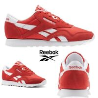 Reebok Classic Nylon Neutrals Running Shoes Sneakers Red BS9377 SZ 4-12.5