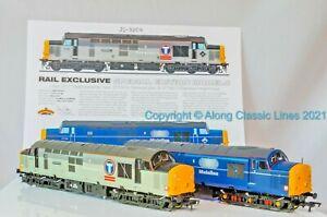 Bachmann 32-390X, OO Gauge, Class 37/7 Twin Pack 37702 & 37798