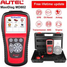 Autel MaxiDiag Elite MD802 OBD2 Auto Scanner Engine Airbag SRS ABS Transmission