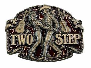 Vintage Siskiyou 1994 Two Step Man Woman Dancing Belt Buckle N-7 Free Shipping