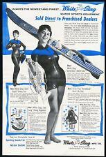 1968 ADVERT Eska Clinton Outboard Motor 3 to 7 HP Voit Water Skis Cobra Slalom