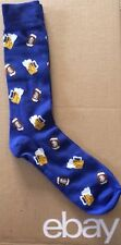 Men's Beer And Football Socks Size 10-13