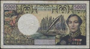 Comptoirs Français du Pacifique (Pacific Territories) 5000 Francs Banknote