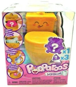 POOPAROOS Surpriseroos Toilet Surprise Squishable Gold Potty New In Box