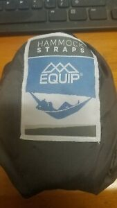 EQUIP HAMMOCK STRAPS BLACK IN BAG 97603 NEW- CONNECT TO TREE