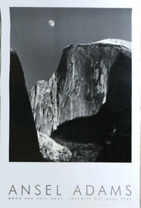 Ansel Adams Moon And Half Dome 1927 Trustees Poster 36 x 24