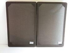 """Grundig FRONT coperchi per Compact BOX 350b con """"Grundig"""" - emblemi COPPIA MARRONE"""