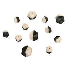 Beads Wood With Facets Black - Rayher