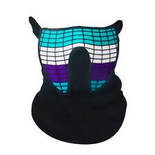 LED Mask Equalizer Beat Rave Party Flashing Half Face Light Up - Sound Activated