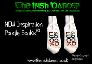 Irish dance poodle socks with Good Luck Print - Ultra Low all sizes