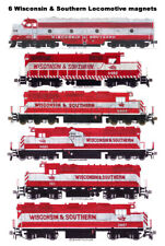 Wisconsin & Southern Locomotives set of 6 magnets Andy Fletcher