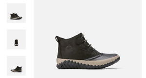 Sorel Out 'N About Plus Boot Black Rain Boot Women's US sizes 6-11/NEW!!!