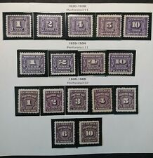 Canada Stamp 1930-1965 Postage Due J7 - J20 MNH See Pictures!