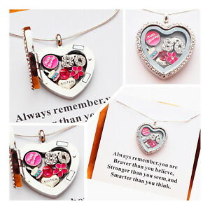 80th Birthday gift -Personalised  Floating  Memory Locket Necklace