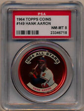 1964 Topps Coins #149 HANK AARON Braves NM-MT PSA 8