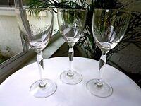 3 Tall Stem Clear Wine Glasses