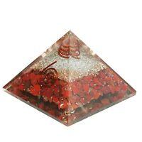 Natural Red Jasper Stone Orgone Pyramid  Symbol Gemstone Generator