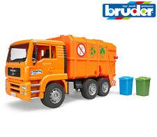 Bruder Toys 02760 MAN TGA Garbage Truck Bin Lorry - With Wheelie Bins 1:16 Scale