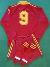 maglia as roma Voeller Barilla 1991 1992 Adidas #9 Jersey Home shirt anni 90 XS