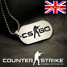 CSGO dog tag Necklace on chain Alloy Counter Strike NEW Cosplay UK STOCK | CS:GO