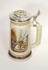 """VTG Avon The Building Of America Beer Stein Collection """"The Shipbuilder"""" 1986"""