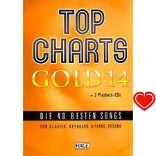 Top Charts Gold 14 - Songbook (mit 2 CDs plus herzförmiger Notenklammer) 3985