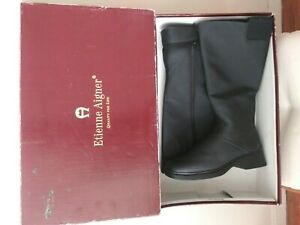 Etienne Aigner Black All-Weather Ice Cap II Zippered Boots Sz10M Brand New / Box
