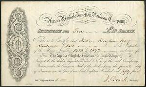 Ayr and Maybole Junction Railway Co., £10 share, 1854