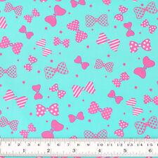 Cotton Fabric FQ Star Stripe Polka Dot Spot Bow Tie Knot Ribbon Dress Quilt VS39