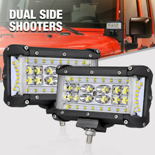 """6"""" 264W LED Work Light Bar Pods Flood Combo Side Shooter Driving OffRoad Tractor"""