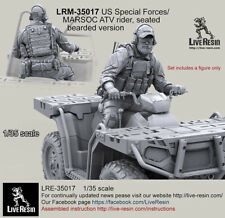 Live Resin 1/35 US Special Forces/MARSOC ATV Rider (seated) [Bearded Version]