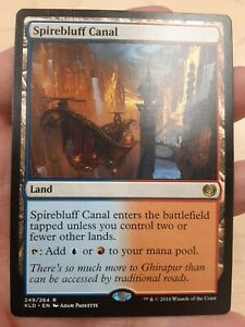 Spirebluff Canal Kaladesh Rare Land Magic MTG Wizards WOTC M1255